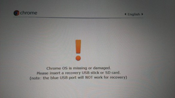 Chrome-recovery-page